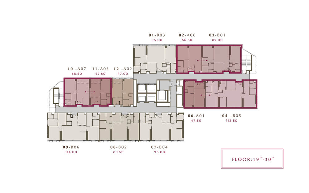Mulberry Grove Sukhumvit floor plan 19-30