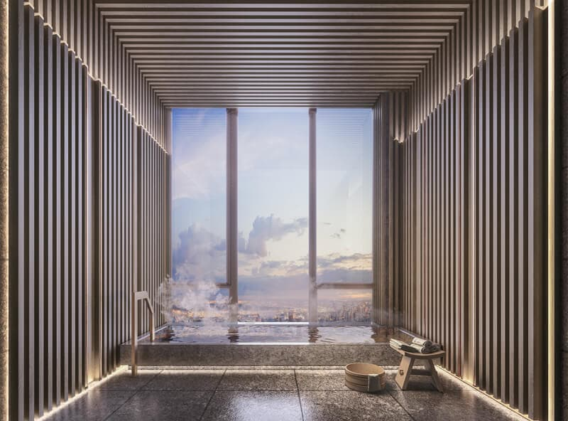 Private Sky-high onsen