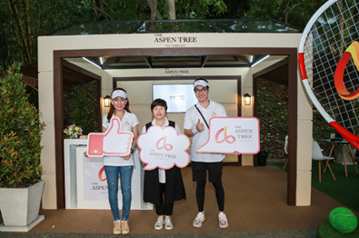 The Aspen Tree highlights healthy living in Thailand at tennis championship