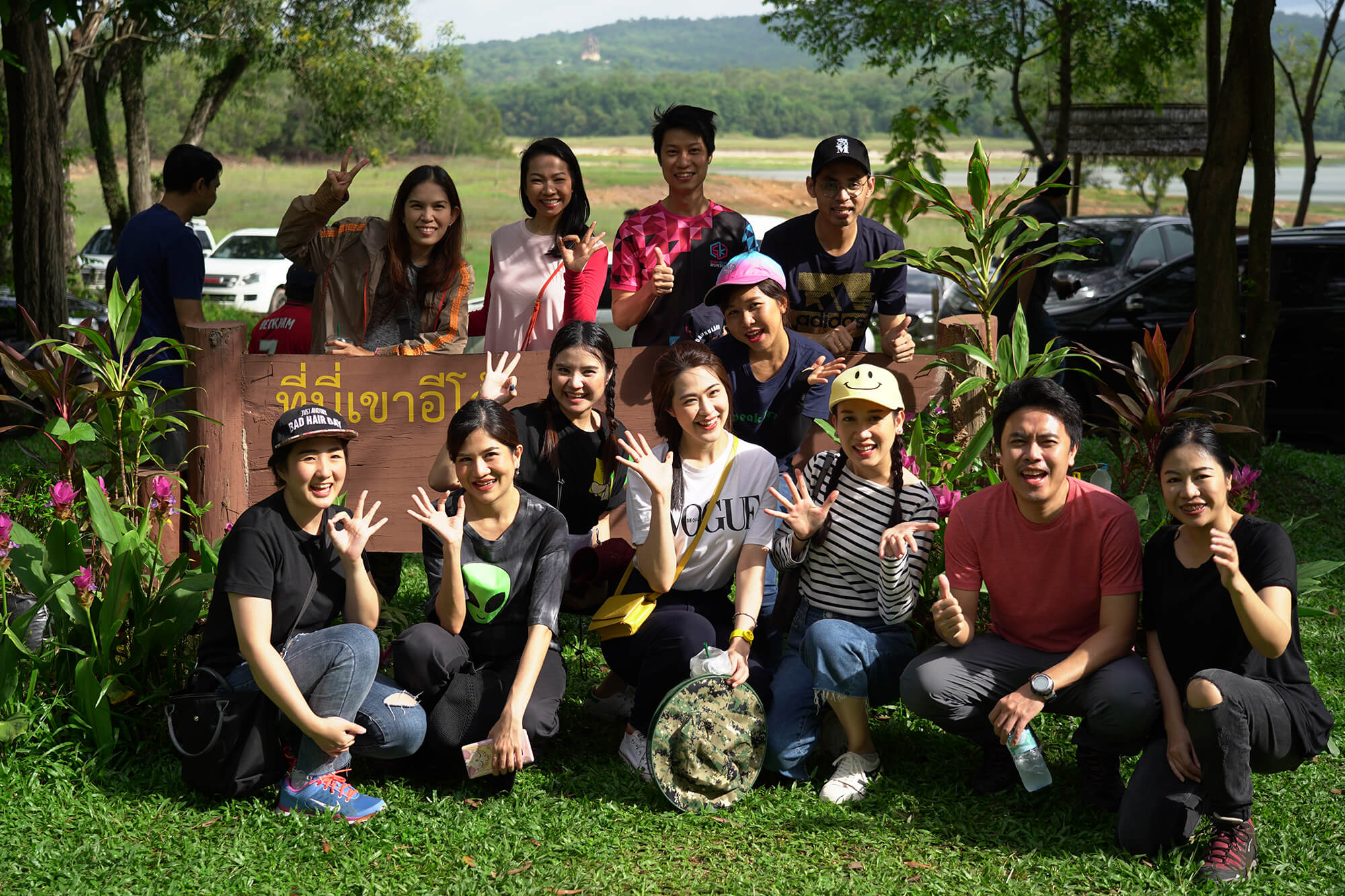 Reforesting together at Khao I-To